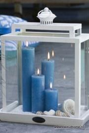 Kaarsen in een windlicht <3