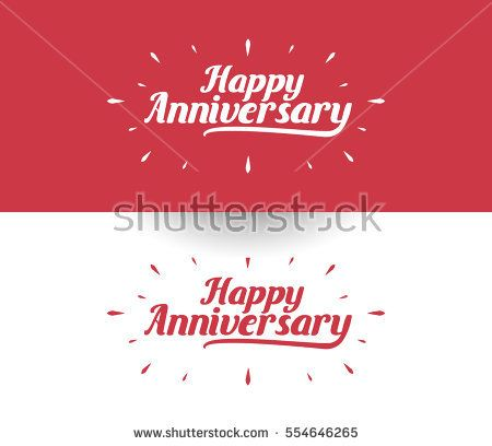 Happy Anniversary Logo Design Can be used as Banner or Greeting Card.