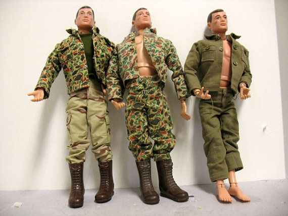 Lot 3 Vintage G.I. Joes Hasbro Military Action by That70sShoppe, $100.00