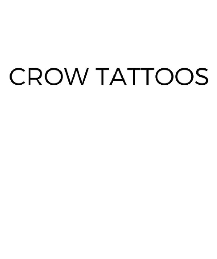 Crow Tattoos And Their Unique Meanings From TattoosWin.com