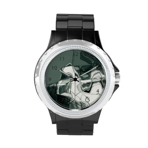 Make it shine and sparkle with the eWatchFactory Rhinestone Watch! Land Formations Abstract Art, by FOMAdesign
