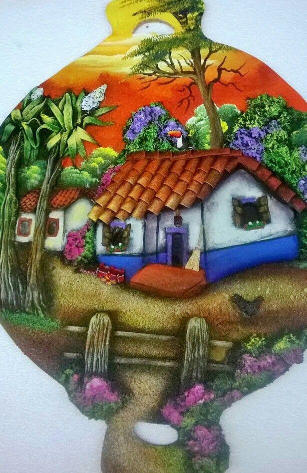 56 best pintura en alto relieve images on pinterest roof tiles alto relieve and clay wall art - Pintar tejas de barro ...