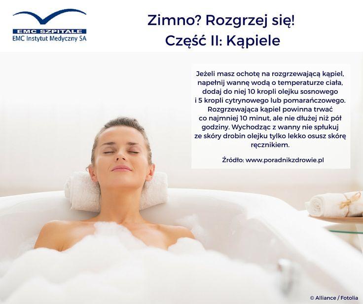 Lubicie relaks w ciepłej kąpieli? O tej porze roku to świetny sposób na rozgrzanie organizmu. #emc #zima #zdrowie #rozgrzejsie