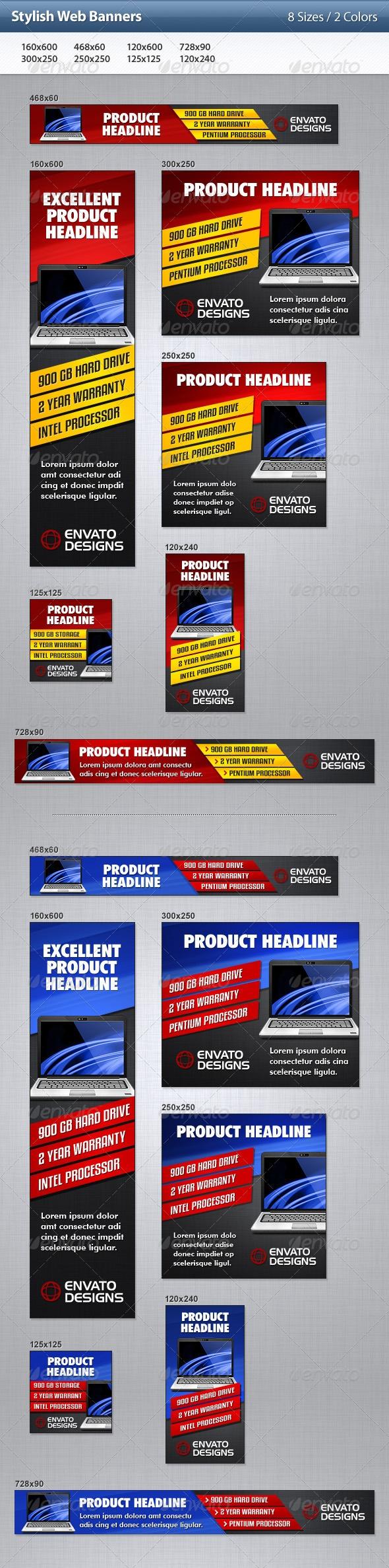 Stylish Web Banners