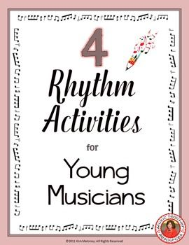 Music Theory: FOUR different rhythm activities. Answer sheet included!  ♫ CLICK through to preview or save for later!  ♫