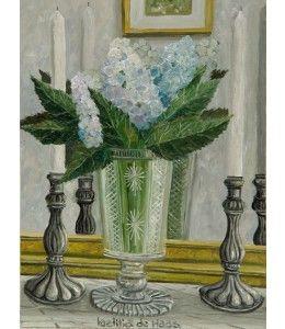 Blauwe Hortensia. Verstuur dit werk van de Haas als kunstkaart.