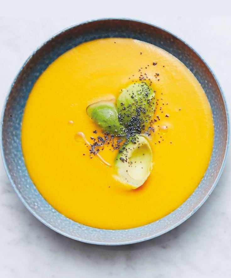 Recept Morotssoppa med tomat och ingefära - Tina Nordström - Mat-Tina