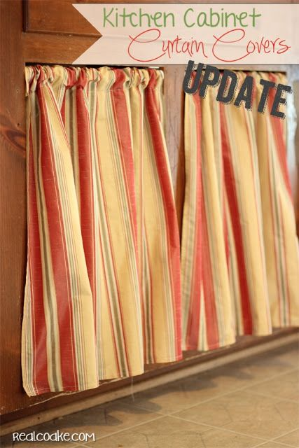 Kitchen cabinet ideas using curtains for kitchen cabinets from www.realcoake.com