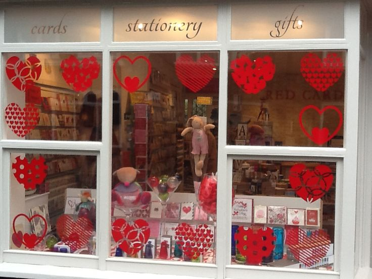 Valentines shop window sticker kit which creates interest across the shop window to draw attention to the window and its contents
