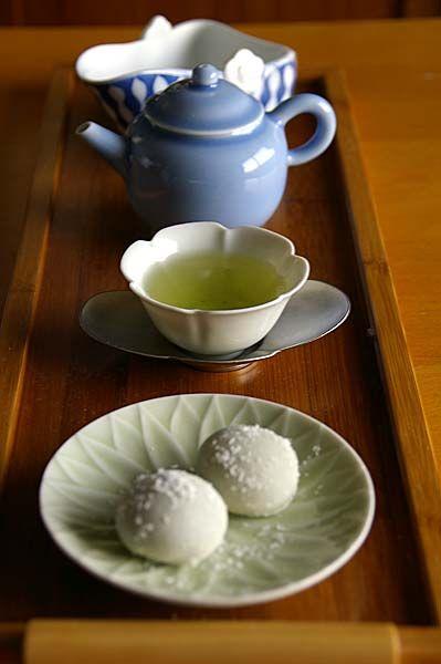 Japanese green tea.