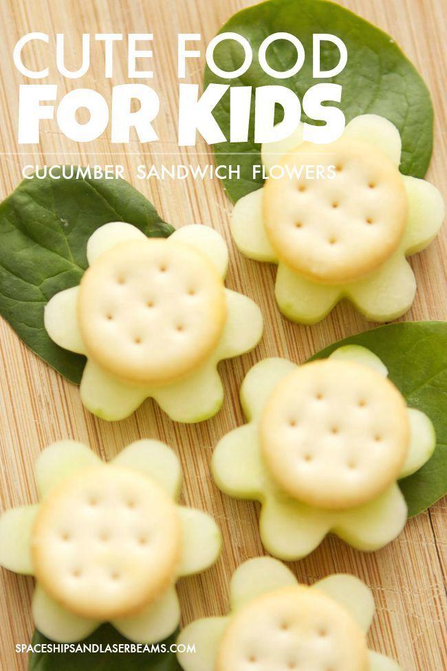 Cute Food for Kids: Cucumber Sandwich Flowers (sponsored)