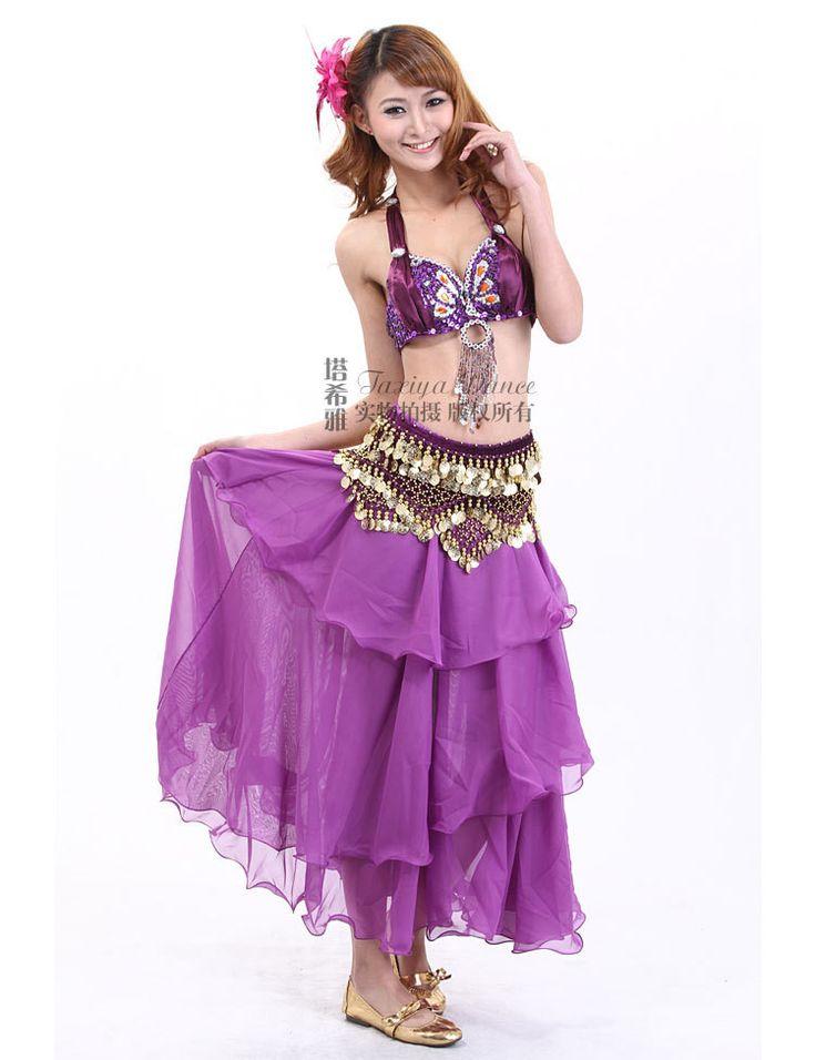 2015 New Belly Dance Dress Bra&Skirt&Waist Chain Clothes For Dancing 7 Colors Belly Dancer Costume Roupa De Danca Do Ventre