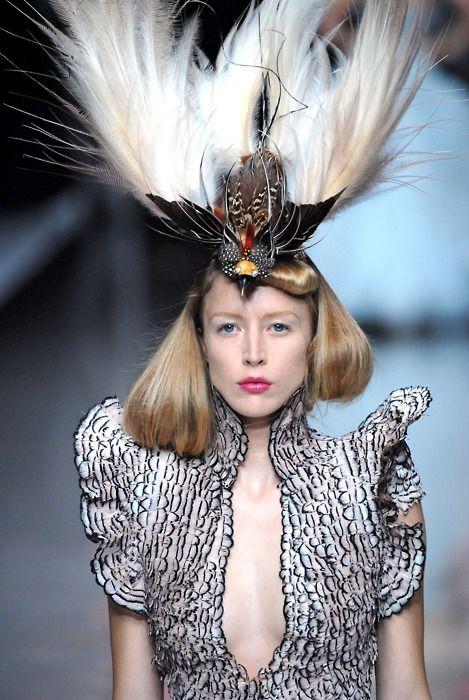 Raquel Zimmermann at Alexander McQueen Spring 2008.
