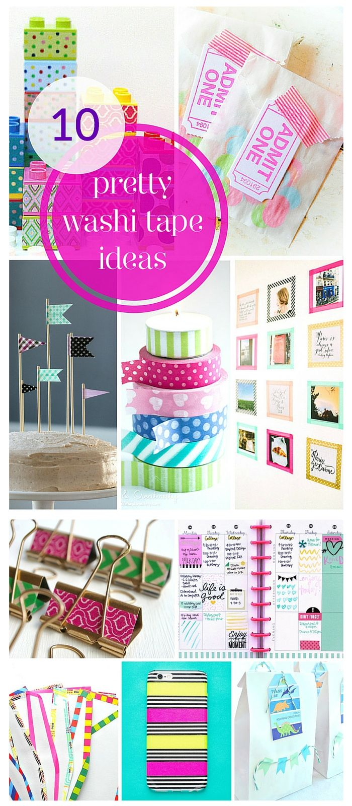10 super pretty washi tape ideas!