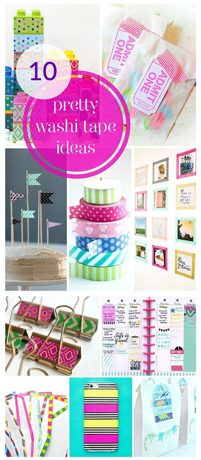 10 super pretty washi tape ideas!