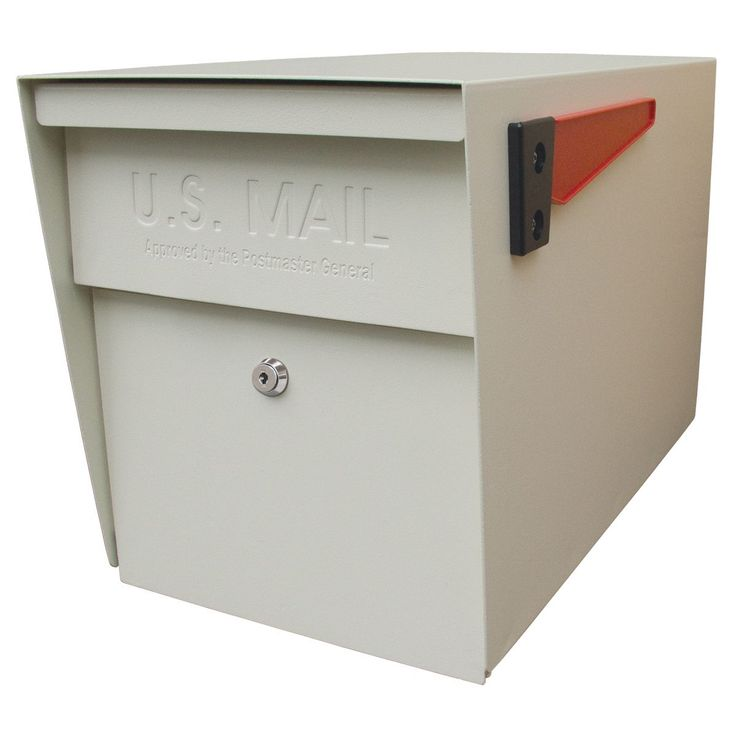 Mail Boss Locking Security Mailbox (White), Beige Off-White (Metal)