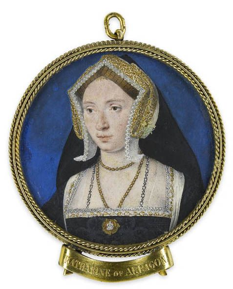 Miniature of Anne Boleyn by Lucas Horenbolt with tag misidentifying it as Catherine of Aragon from lisby1's photostream on flickr