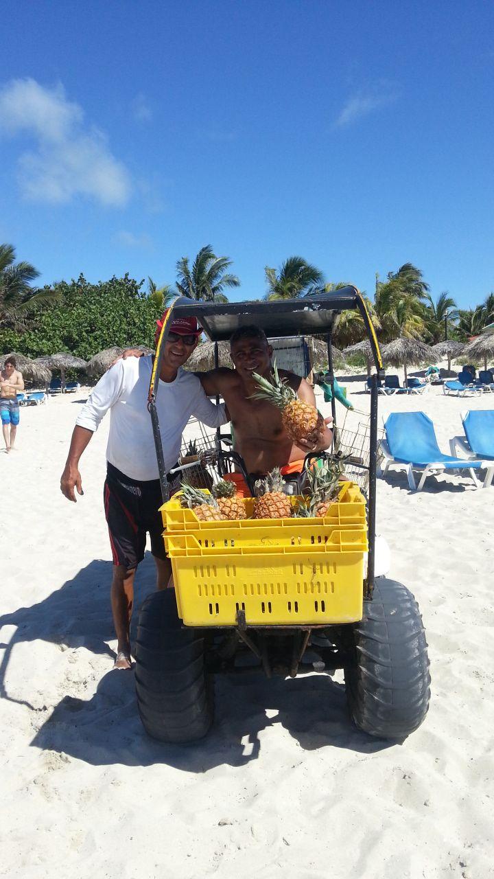 Fresh Pina Colada on the beach