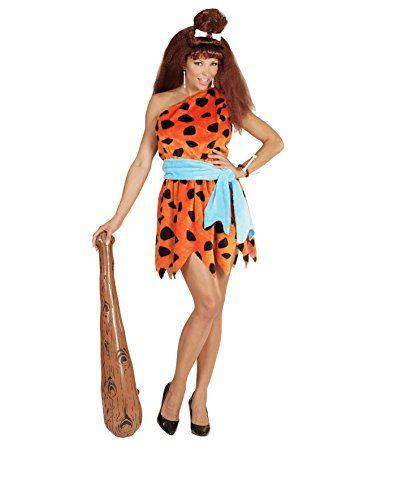 Damen Steinzeit Wilma Flintstone Feuerstein Höhlenmensch Kostüm ca 19€ | Kostüm-Idee zu Karneval, Halloween & Fasching