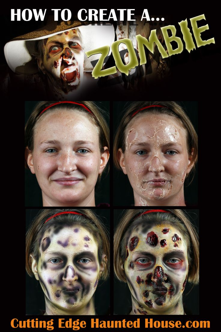 799 best zombie makeup images on pinterest costumes halloween diy zombie makeup tutorial solutioingenieria Image collections