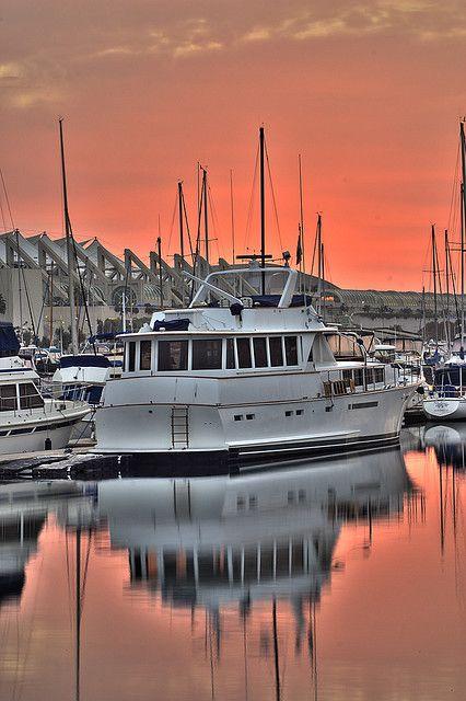 Sunrise At The Marina - San Diego, California