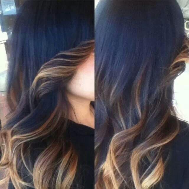Ombre highlight peek a boo | Hair | Pinterest | Beautiful ...