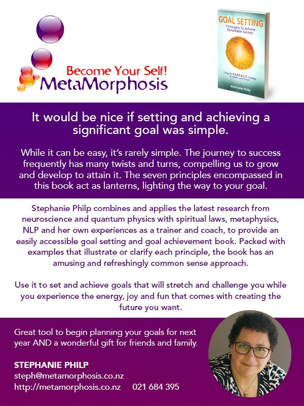 Easily achieve your goals for 2017 with the help of Stephanie's Book. Find out more . .  DrumRoll ... and the beat goes out ...Issue 69 sent Wed 16th November http://conta.cc/2fWuFfL #DrumRoll #DrumRollPromotions #NewZealand #wellbeing #connection #community #StephaniePhilp #goalSetting #metamorphosis