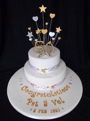 increbles de tortas para bodas de oro