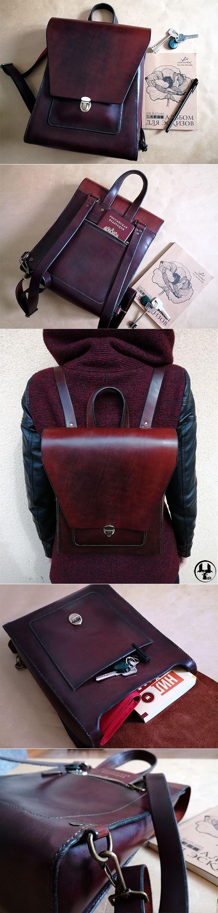 Рюкзак из натуральной кожи Angle - Купить Кожаный рюкзак, кожаный рюкзак ручной работы, natural leather, hand made, ярмарка мастеров