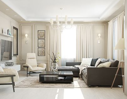 "Check out new work on my @Behance portfolio: ""Contemporary classic livingroom"" http://on.be.net/1GhaCgW"