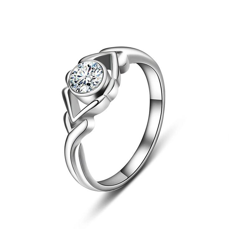 Бренд Italina Rigant мода день святого валентина обручальные кольца, платиновое кольцо с бриллиантом