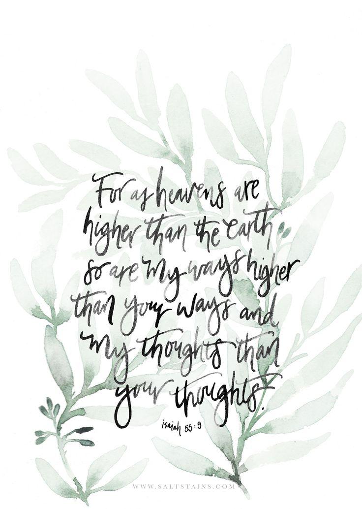 Isaiah 55:9.