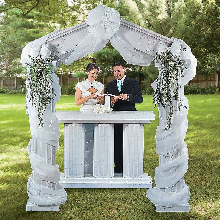 Wedding Arch Decoration Ideas: PILLARS COLUMNS GAZEBOS Images On Pinterest