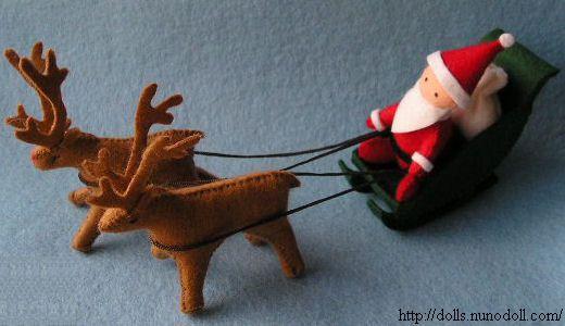 kerstman op zijn slee (+ werkbeschrijving)