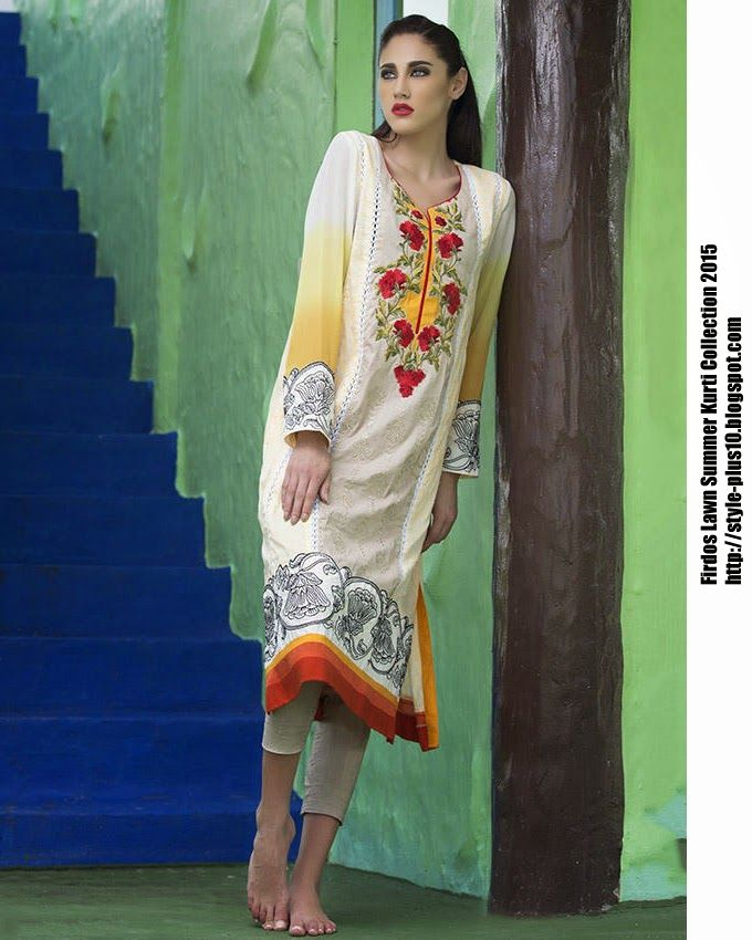 15-EXC-K7B From FIRDOUS Carnival Kurti Collection 2015