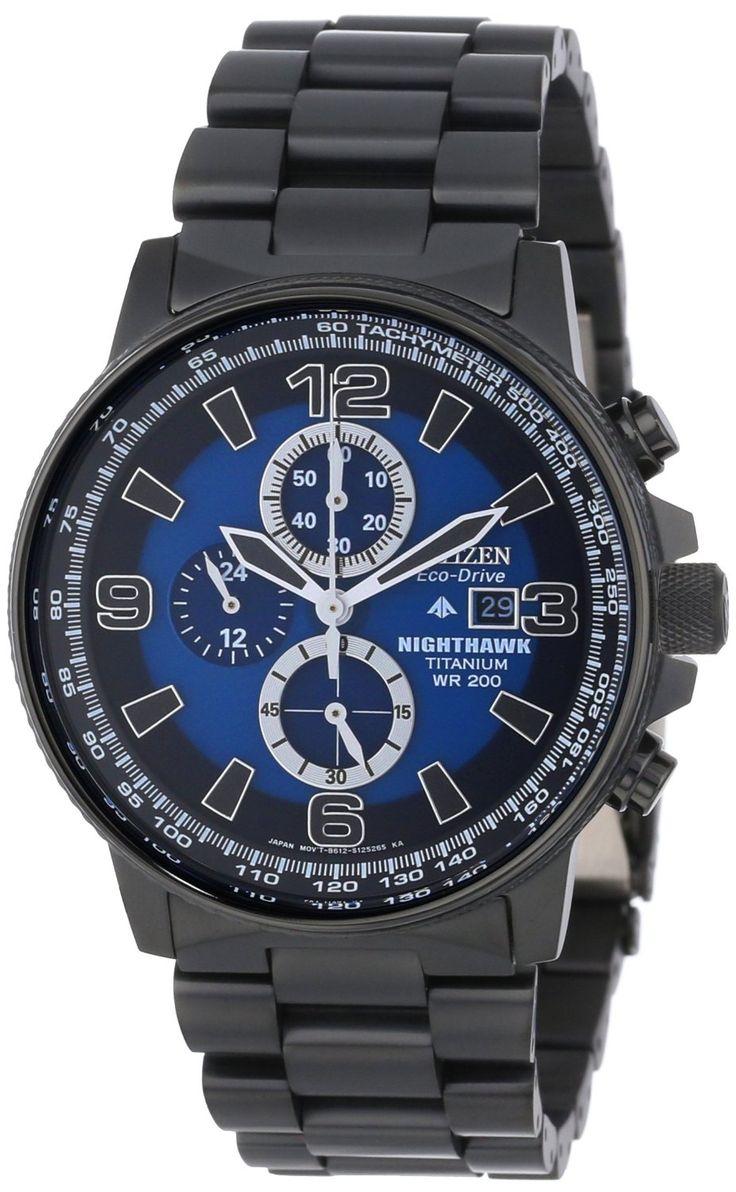 "Citizen Men's Watches : Citizen Men's CA0505-57L  Eco-Drive Titanium ""Nighthawk"" Chronograph Watch"
