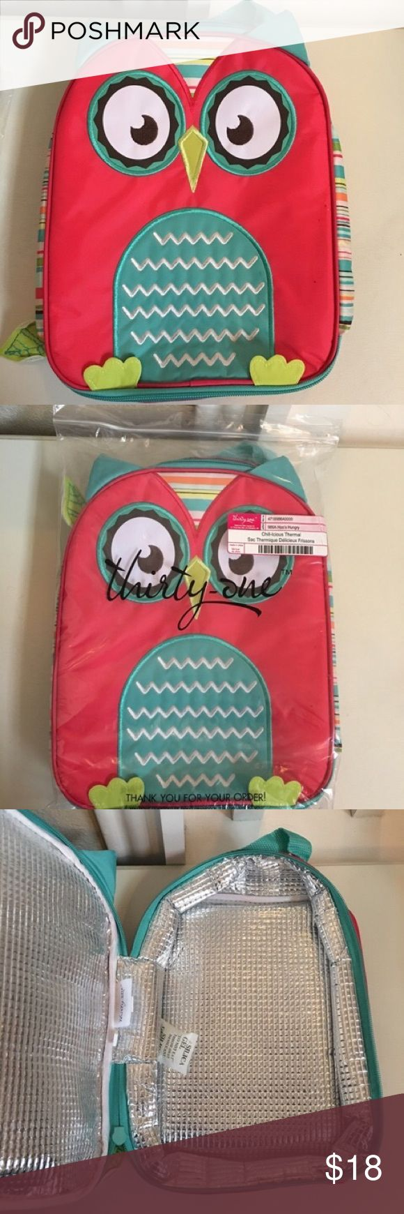 Selling this Thirty One Owl Lunch Bag on Poshmark! My username is: nlgat. #shopmycloset #poshmark #fashion #shopping #style #forsale #Thirty One Gifts #Other