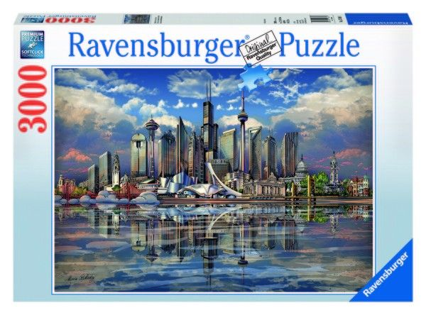 Additional Image Ravensburger North American Skyline Jigsaw Puzzle Nr 1