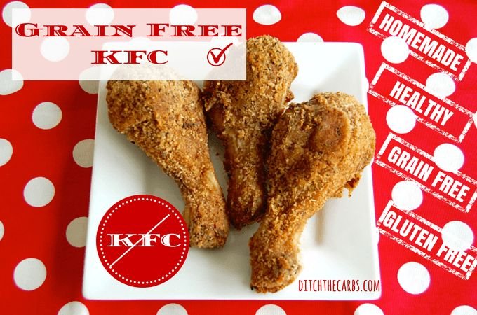 "Grain Free KFC is so good and so healthy. It is low carb, wheat free, sugar free, trans fat free, gluten free and ""don't know what they put in their secret recipe"" free. It's so easy and requires no dirty dishes because you make the whole recipe in a clean food (plastic) bag!!! Can this get any better? Ah ha, taste it and see. 