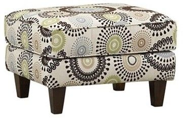Taylor II Accent Ottoman - eclectic - ottomans and cubes - Havertys