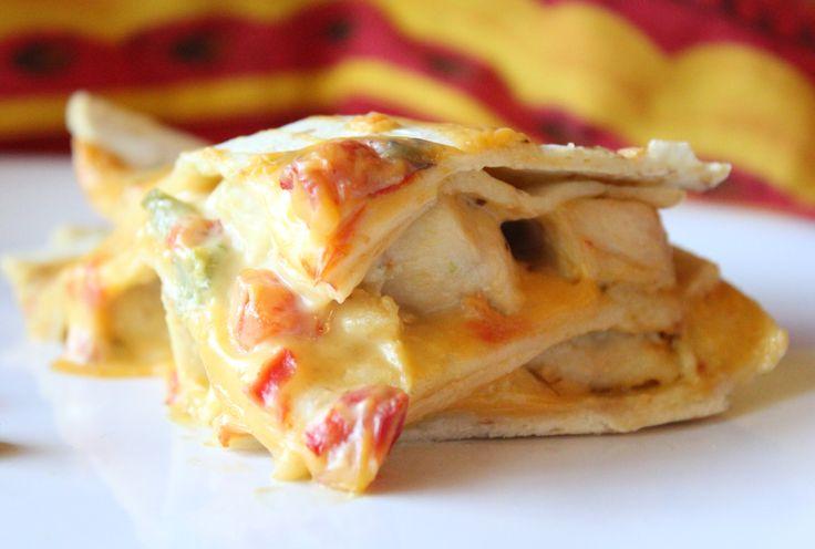Velveeta Chicken Tortilla Bake