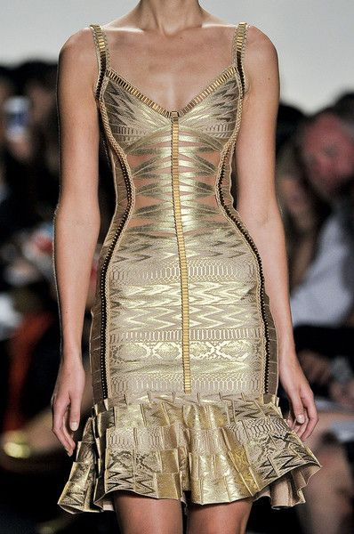 whatchathinkaboutthat:  Herve Leger by Max Azria Spring 2012 Details