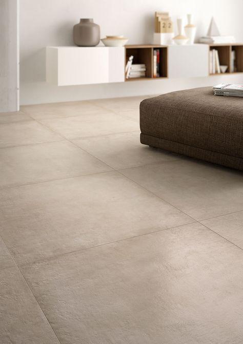 Eine elegante #Steinoptik die an #Sandstein oder #Ton erinnert: Marazzi Fliesen … #wohnzimmer