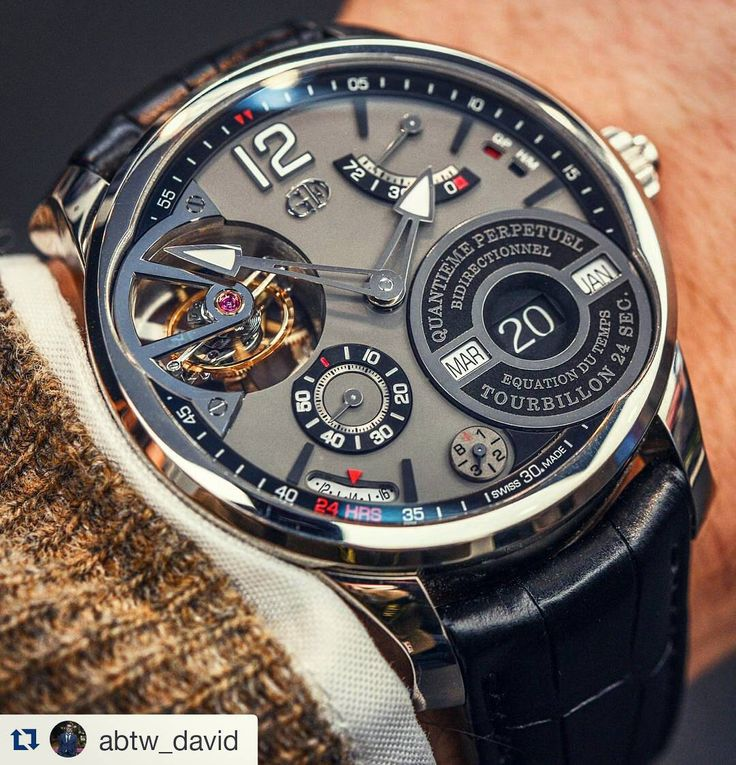 #Regram @abtw_david The stunning GREUBEL FORSEY Perpetual Calendar featuring a 24 second inclined tourbillon with 86 parts and a total weight of just 0.37 grams. #greubelforsey #swisswatch #luxe #tourbillon #swissmade #watch #wristwatch #timepiece #orologi #montres #gardetemps #relojes #masterpiece #gentleman #toysforboys #instalike #instamood #instadaily #menstyle #mensfashion #menswear #instawatch #ablogtowatch #watchmaking #womw #watchmovement #tourbillonfanatic #wotd #watchesofinstagram…