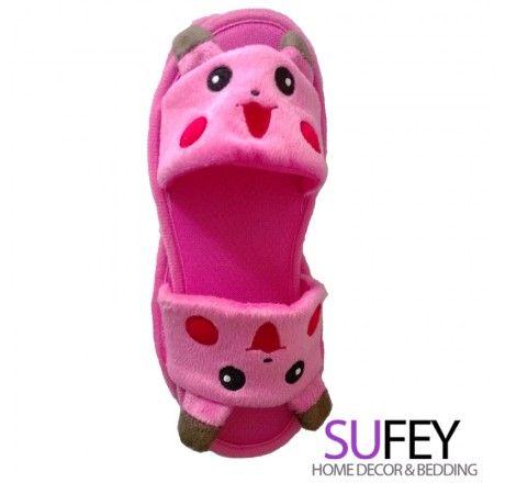Pikachu Home Cartoon Shoes Pink Pikachu Indoor Bedroom Slippers | Sufey.com