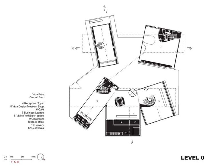 Project name: VitraHaus Address: Vitra GmbH, Charles-Eames-Strasse, Weil am Rhein, Germany Project phases Concept design: 2006 Schematic design: 2006 Desig