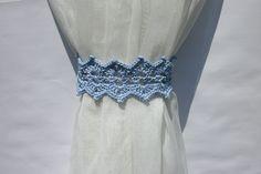 Blue curtain holdback Crochet curtain ties Curtain tie backs Curtain tiebacks…