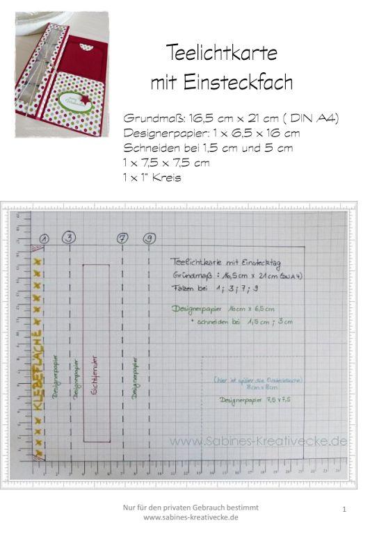Anleitung Teelichtkarte  tealight card