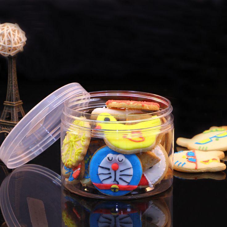 Жесткий пластмассовый пп 8.5 * 10 см палец печенье коробка печенья банку пластмассовое ведро печенье взломщик коробка баррель, 20 / pcs