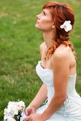 """""""Curly half up – half down wedding hairstyles give you the best of the both worlds."""